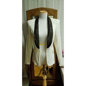 Forever 21 studded tuxedo blazer